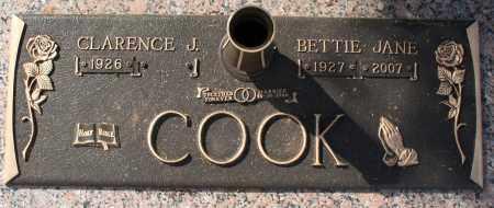 COOK, BETTIE JANE - Maricopa County, Arizona | BETTIE JANE COOK - Arizona Gravestone Photos