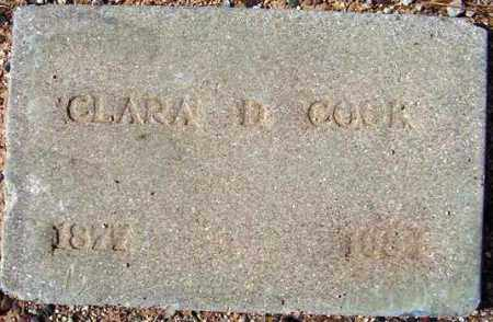 DAILEY COOK, CLARA D. - Maricopa County, Arizona   CLARA D. DAILEY COOK - Arizona Gravestone Photos