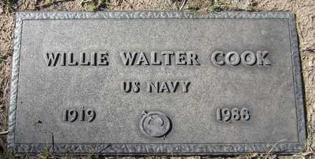 COOK, WILLIE WALTER - Maricopa County, Arizona | WILLIE WALTER COOK - Arizona Gravestone Photos
