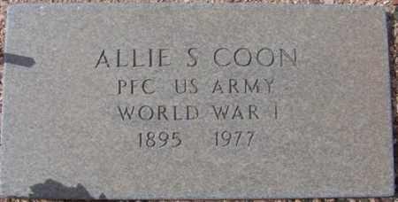 COON, ALLIE S. - Maricopa County, Arizona   ALLIE S. COON - Arizona Gravestone Photos