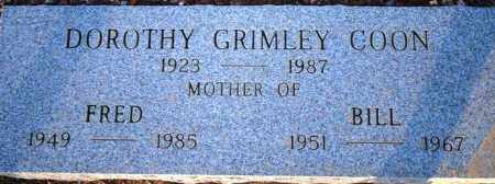 GRIMLEY COON, DOROTHY - Maricopa County, Arizona | DOROTHY GRIMLEY COON - Arizona Gravestone Photos