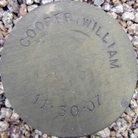 COOPER, WILLIAM - Maricopa County, Arizona   WILLIAM COOPER - Arizona Gravestone Photos