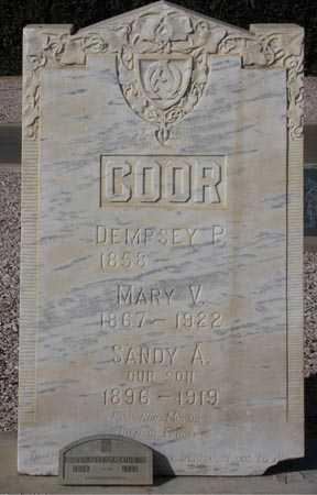 COOR, MARY V. - Maricopa County, Arizona | MARY V. COOR - Arizona Gravestone Photos