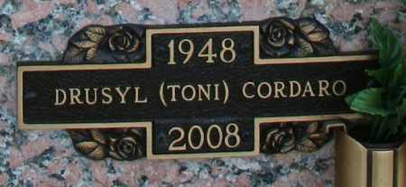 "CORDARO, DRUSYL ""TONI"" - Maricopa County, Arizona   DRUSYL ""TONI"" CORDARO - Arizona Gravestone Photos"