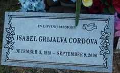 CORDOVA, ISABEL - Maricopa County, Arizona | ISABEL CORDOVA - Arizona Gravestone Photos
