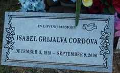 GRIJALVA CORDOVA, ISABEL - Maricopa County, Arizona   ISABEL GRIJALVA CORDOVA - Arizona Gravestone Photos