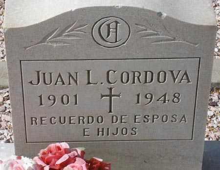 CORDOVA, JUAN L. - Maricopa County, Arizona | JUAN L. CORDOVA - Arizona Gravestone Photos