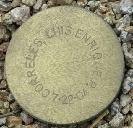 CORRELES, LUIS ENRIQUE P. - Maricopa County, Arizona | LUIS ENRIQUE P. CORRELES - Arizona Gravestone Photos