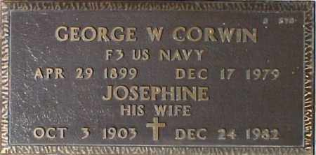 CORWIN, GEORGE W. - Maricopa County, Arizona | GEORGE W. CORWIN - Arizona Gravestone Photos