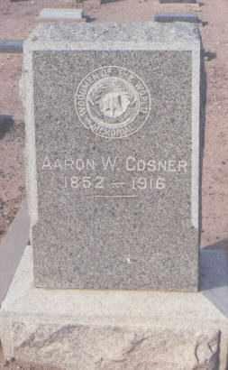 COSNER, AARON W. - Maricopa County, Arizona   AARON W. COSNER - Arizona Gravestone Photos