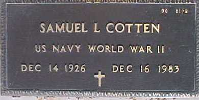 COTTEN, SAMUEL L. - Maricopa County, Arizona | SAMUEL L. COTTEN - Arizona Gravestone Photos
