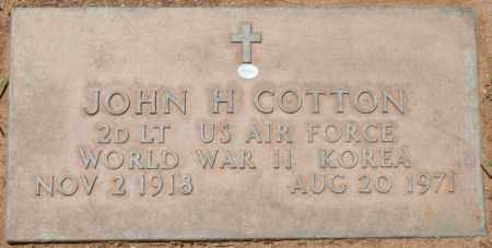 COTTON, JOHN H. - Maricopa County, Arizona | JOHN H. COTTON - Arizona Gravestone Photos