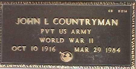 COUNTRYMAN, JOHN L. - Maricopa County, Arizona   JOHN L. COUNTRYMAN - Arizona Gravestone Photos