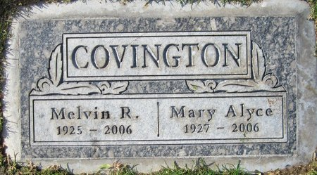 COVINGTON, MARY ALYCE - Maricopa County, Arizona | MARY ALYCE COVINGTON - Arizona Gravestone Photos