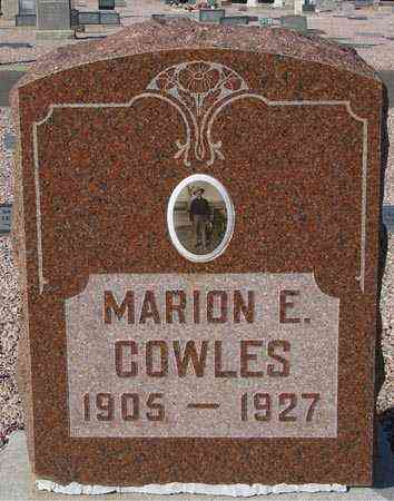 COWLES, MARION E. - Maricopa County, Arizona | MARION E. COWLES - Arizona Gravestone Photos