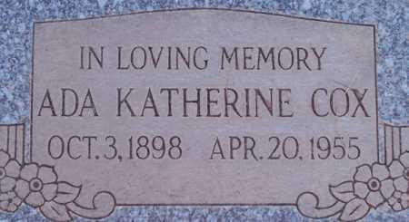 COX, ADA KATHERINE - Maricopa County, Arizona | ADA KATHERINE COX - Arizona Gravestone Photos