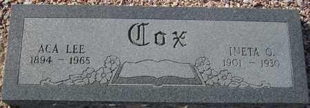 COX, INETA O. - Maricopa County, Arizona | INETA O. COX - Arizona Gravestone Photos