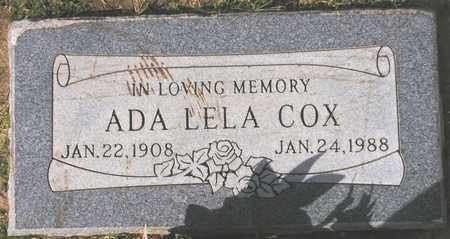 COX, ADA LELA - Maricopa County, Arizona | ADA LELA COX - Arizona Gravestone Photos