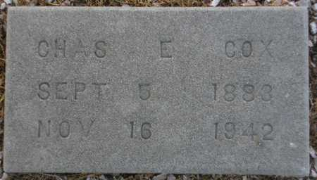 COX, CHAS E. - Maricopa County, Arizona | CHAS E. COX - Arizona Gravestone Photos