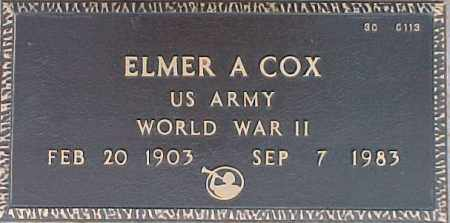COX, ELMER A. - Maricopa County, Arizona | ELMER A. COX - Arizona Gravestone Photos