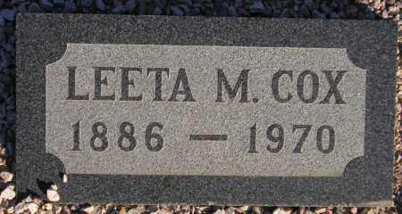 COX, LEETA M. - Maricopa County, Arizona   LEETA M. COX - Arizona Gravestone Photos