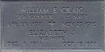 CRAIG, WILLIAM E. - Maricopa County, Arizona | WILLIAM E. CRAIG - Arizona Gravestone Photos