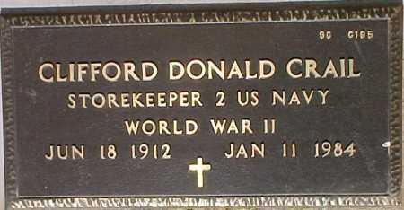 CRAIL, CLIFFORD DONALD - Maricopa County, Arizona | CLIFFORD DONALD CRAIL - Arizona Gravestone Photos