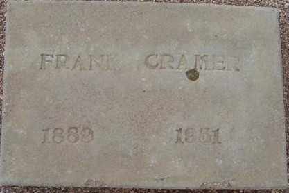 CRAMER, FRANK - Maricopa County, Arizona | FRANK CRAMER - Arizona Gravestone Photos