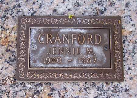 CRANFORD, JENNIE M. - Maricopa County, Arizona | JENNIE M. CRANFORD - Arizona Gravestone Photos