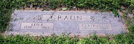 SMITH CRAUN, GERTRUDE D. - Maricopa County, Arizona | GERTRUDE D. SMITH CRAUN - Arizona Gravestone Photos