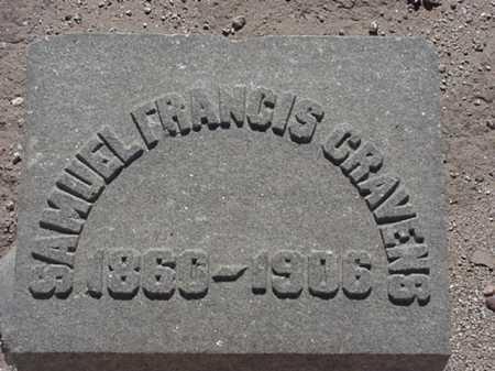 CRAVENS, SAMUEL FRANCIS - Maricopa County, Arizona | SAMUEL FRANCIS CRAVENS - Arizona Gravestone Photos