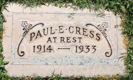 CRESS, PAUL E - Maricopa County, Arizona | PAUL E CRESS - Arizona Gravestone Photos