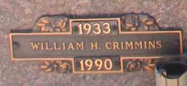 CRIMMINS, WILLIAM H - Maricopa County, Arizona | WILLIAM H CRIMMINS - Arizona Gravestone Photos