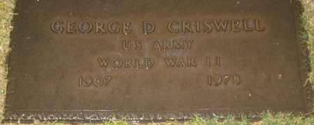 CRISWELL, GEORGE D. - Maricopa County, Arizona   GEORGE D. CRISWELL - Arizona Gravestone Photos