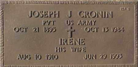 CRONIN, JOSEPH J. - Maricopa County, Arizona | JOSEPH J. CRONIN - Arizona Gravestone Photos