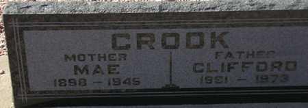 CROOK, MAE - Maricopa County, Arizona | MAE CROOK - Arizona Gravestone Photos