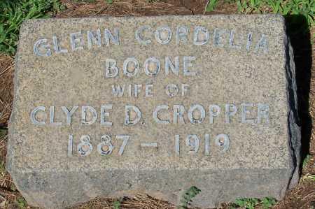 BOONE CROPPER, GLENN CORDELIA - Maricopa County, Arizona | GLENN CORDELIA BOONE CROPPER - Arizona Gravestone Photos