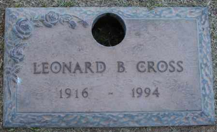 CROSS, LEONARD B - Maricopa County, Arizona | LEONARD B CROSS - Arizona Gravestone Photos