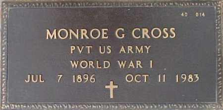 CROSS, MONROE G. - Maricopa County, Arizona | MONROE G. CROSS - Arizona Gravestone Photos