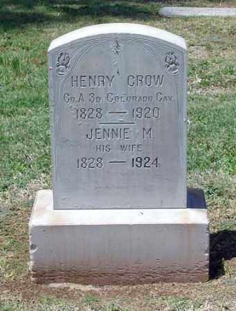 CROW, JENNIE M. - Maricopa County, Arizona | JENNIE M. CROW - Arizona Gravestone Photos