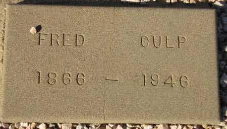 CULP, FRED - Maricopa County, Arizona | FRED CULP - Arizona Gravestone Photos