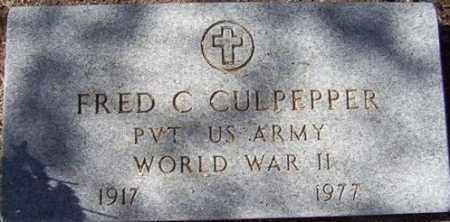 CULPEPPER, FRED C. - Maricopa County, Arizona | FRED C. CULPEPPER - Arizona Gravestone Photos