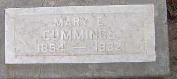 CUMMINGS, MARY ELIZABETH - Maricopa County, Arizona   MARY ELIZABETH CUMMINGS - Arizona Gravestone Photos
