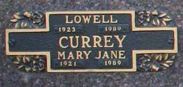 CURREY, MARY JANE - Maricopa County, Arizona | MARY JANE CURREY - Arizona Gravestone Photos