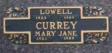 CURREY, LOWELL - Maricopa County, Arizona | LOWELL CURREY - Arizona Gravestone Photos
