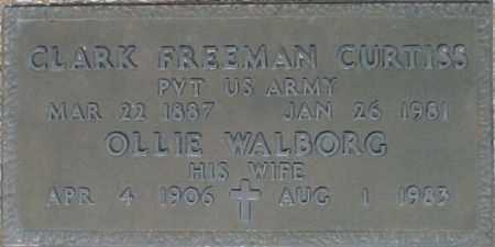 CURTISS, OLLIE WALBORG - Maricopa County, Arizona | OLLIE WALBORG CURTISS - Arizona Gravestone Photos