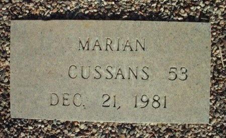 CUSSANS, MARIAN - Maricopa County, Arizona | MARIAN CUSSANS - Arizona Gravestone Photos