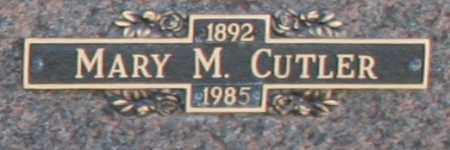 CUTLER, MARY M - Maricopa County, Arizona | MARY M CUTLER - Arizona Gravestone Photos