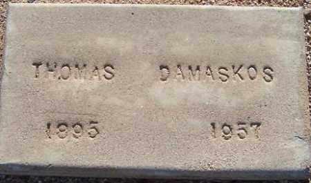 DAMASKOS, THOMAS - Maricopa County, Arizona | THOMAS DAMASKOS - Arizona Gravestone Photos