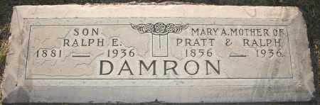 DAMRON, RALPH E - Maricopa County, Arizona   RALPH E DAMRON - Arizona Gravestone Photos